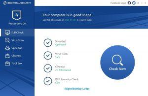 360 Total Security 10.8.0.1021 Crack + Keygen Free Download